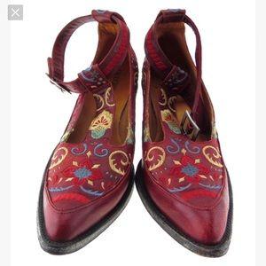 Old Gringo Deborah Rico T-Strap Shoes Red -8.5